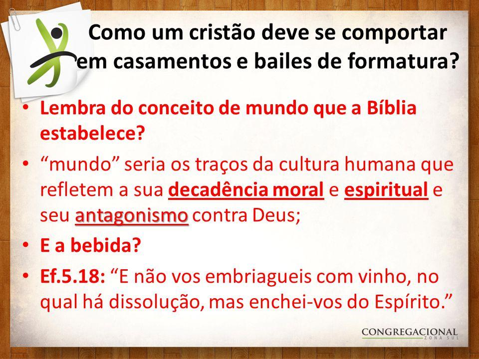 Lembra do conceito de mundo que a Bíblia estabelece? antagonismo mundo seria os traços da cultura humana que refletem a sua decadência moral e espirit