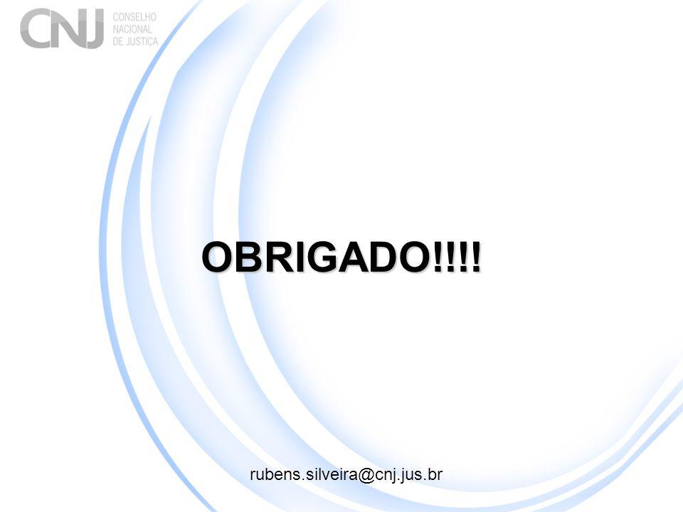 OBRIGADO!!!! rubens.silveira@cnj.jus.br
