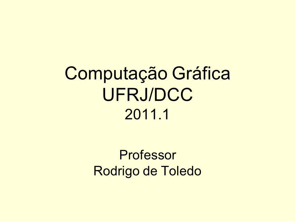 Computação Gráfica UFRJ/DCC 2011.1 Professor Rodrigo de Toledo