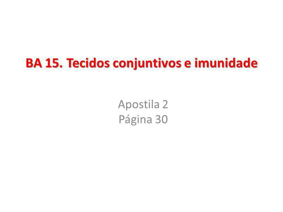 BA 15. Tecidos conjuntivos e imunidade Apostila 2 Página 30