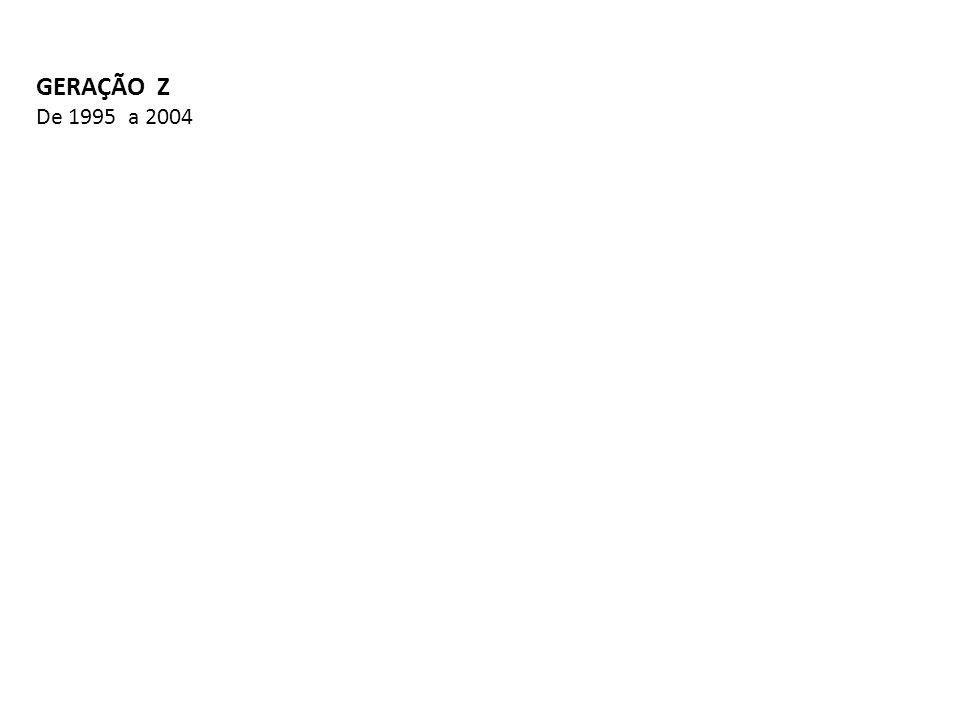 GERAÇÃO Z De 1995 a 2004
