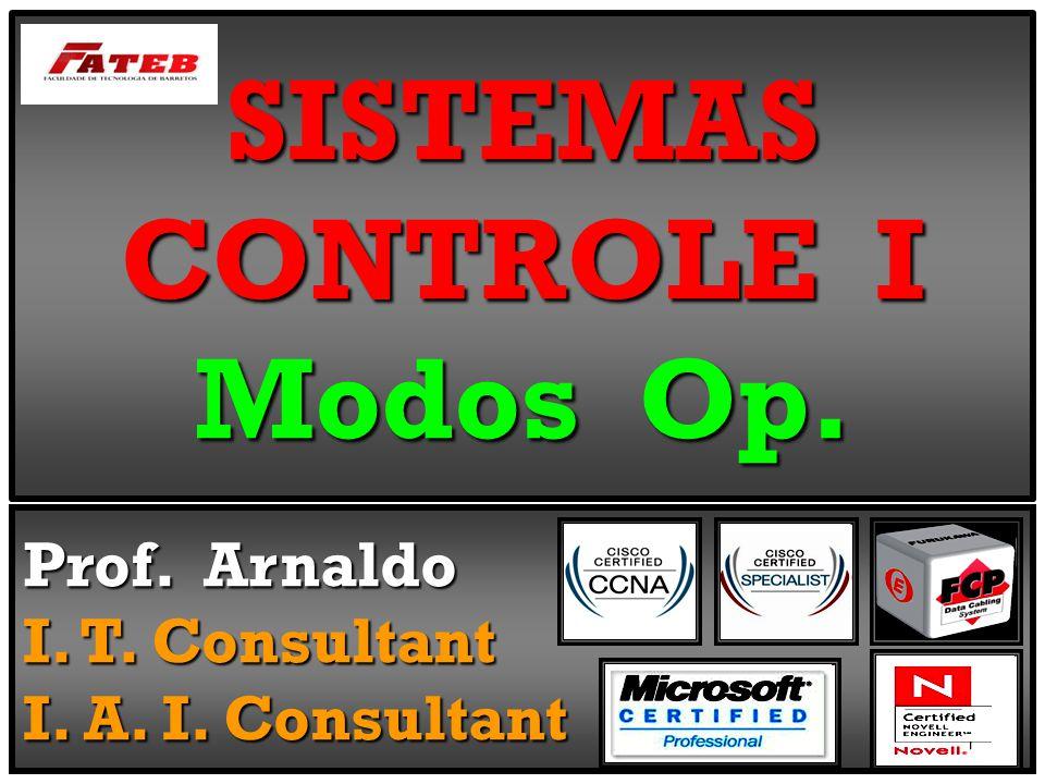 SISTEMAS CONTROLE I Modos Op. Prof. Arnaldo I. T. Consultant I. A. I. Consultant