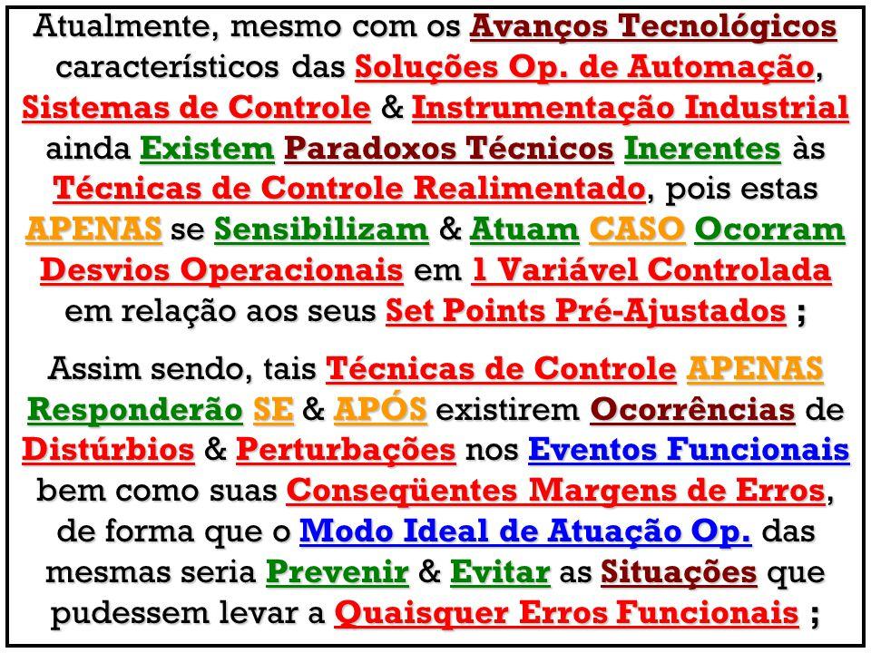 Atualmente, mesmo com os Avanços Tecnológicos característicos das Soluções Op. de Automação, característicos das Soluções Op. de Automação, Sistemas d