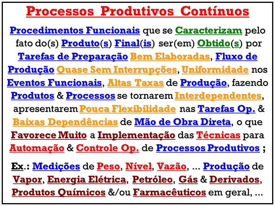 Processos Produtivos Contínuos Procedimentos Funcionais que se Caracterizam pelo fato do(s) Produto(s) Final(is) ser(em) Obtido(s) por fato do(s) Prod