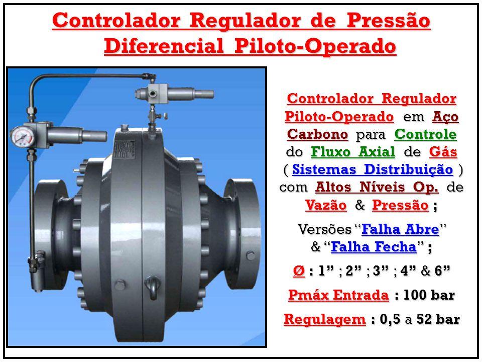 Controlador Regulador de Pressão Diferencial Piloto-Operado Controlador Regulador Piloto-Operado em Aço Carbono para Controle do Fluxo Axial de Gás (