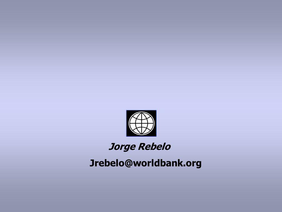 Jorge Rebelo Jrebelo@worldbank.org