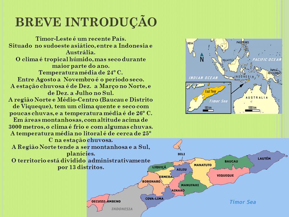 REPÚBLIKA DEMOKRÁTIKA TIMÓR LOROSA'E REPÚBLICA DEMOCRÁTICA DE TIMOR-LESTE DEMOCRATIC REPUBLIC OF TIMOR-LESTE BEM VINDOS A TIMOR-LESTE!