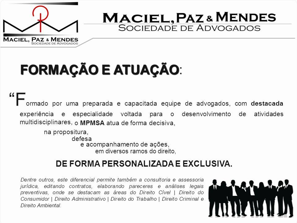 MPMSA: U m escritório jurídico, JOVEM, MODERNO e INOVADOR ! Aplicando técnicas, métodos e estratégias jurídicas atuais e inovadoras, consegue proporci