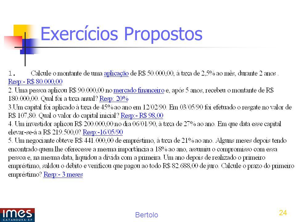 Bertolo 24 Exercícios Propostos