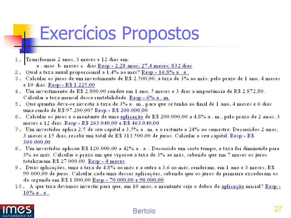 Bertolo 27 Exercícios Propostos
