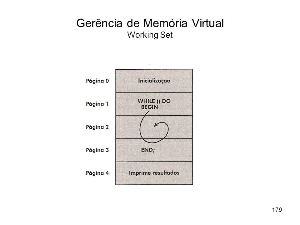Gerência de Memória Virtual Working Set 179