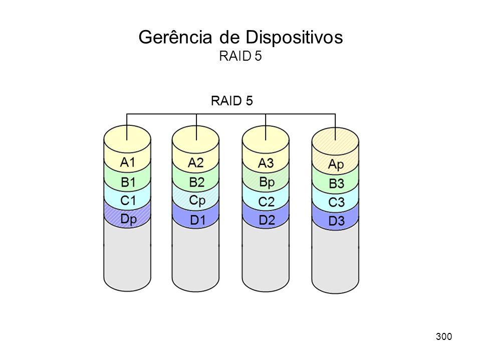 Gerência de Dispositivos RAID 5 300