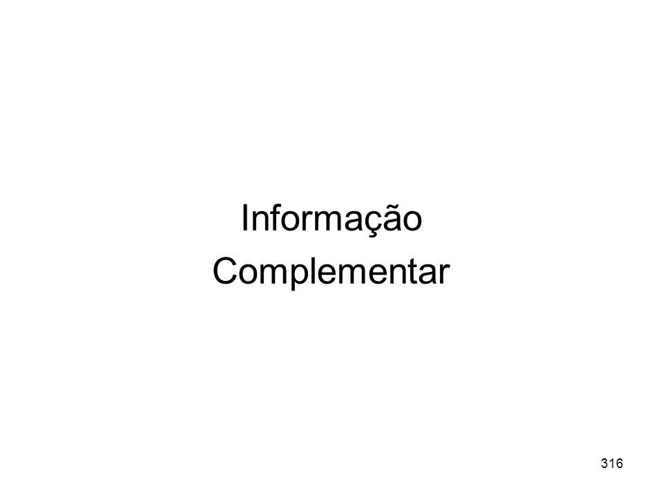 Informação Complementar 316