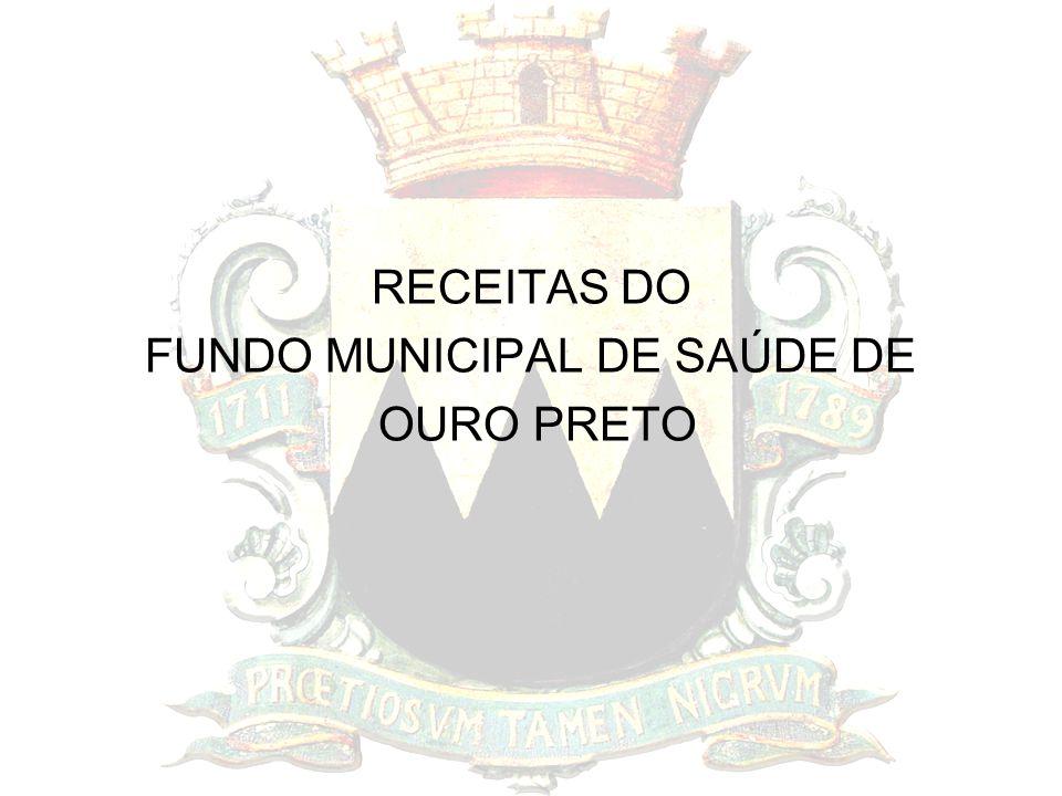 RECEITAS DO FUNDO MUNICIPAL DE SAÚDE DE OURO PRETO