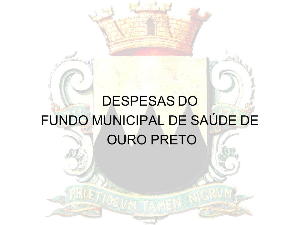 DESPESAS DO FUNDO MUNICIPAL DE SAÚDE DE OURO PRETO