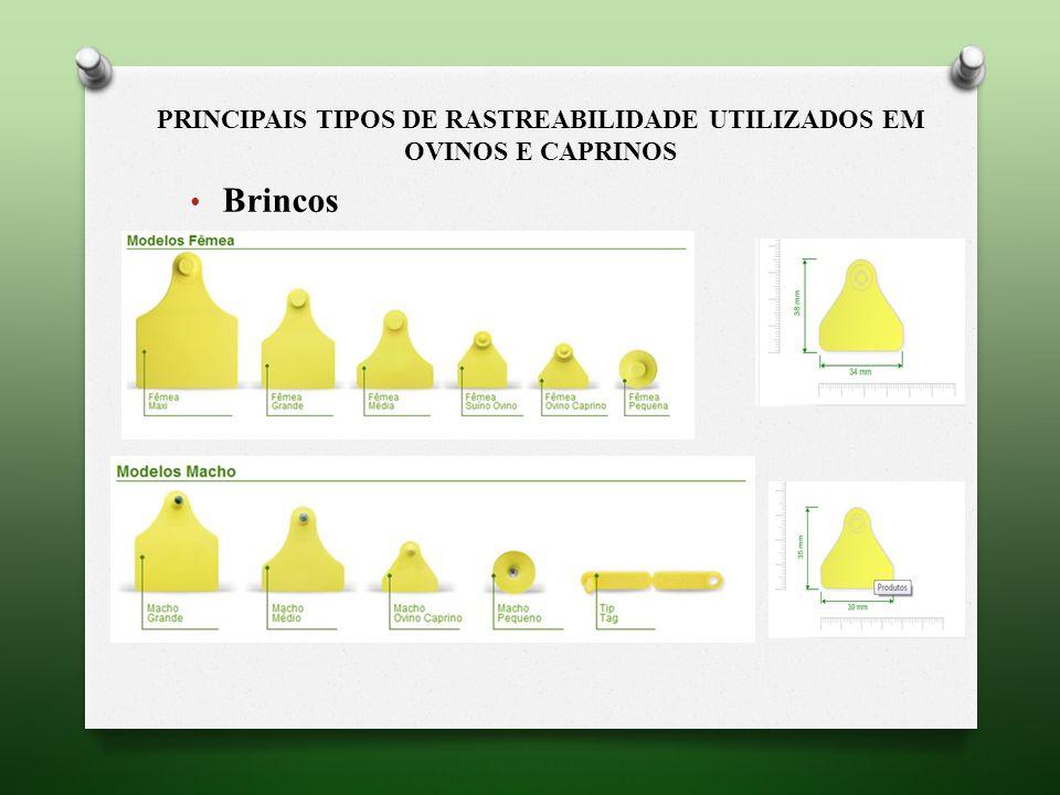 PRINCIPAIS TIPOS DE RASTREABILIDADE UTILIZADOS EM OVINOS E CAPRINOS Brincos