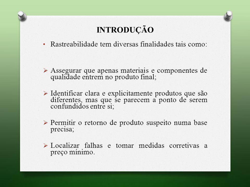 RASTREABILIDADE APLICADA À CARNE BOVINA A rastreabilidade é uma exigência legal, regulamentada pelo Ministério da Agricultura, Pecuária e Abastecimento (MAPA); SISBOV