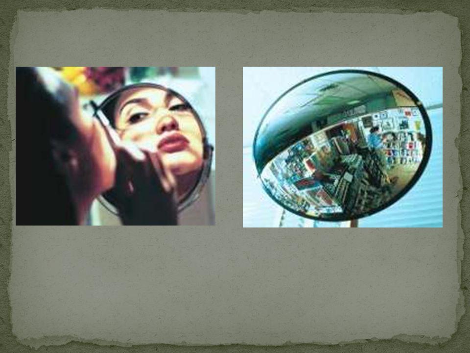 Tanto para espelhos côncavos como para convexos há duas representações usuais.