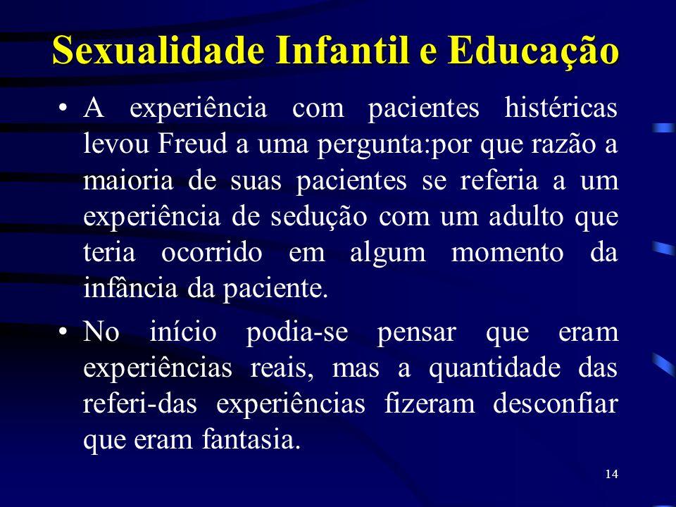 13 Sexualidade e Educação Ao que tudo indica, é a moral,transmitida pela Educação, que incute no indivíduo as noções de pecado e de vergonha que ele d