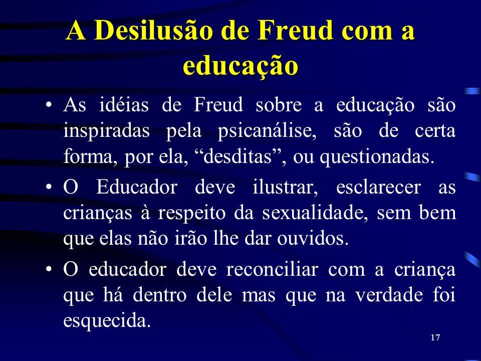 16 O sonho impossível: a desilusão de Freud com a Educação Aline