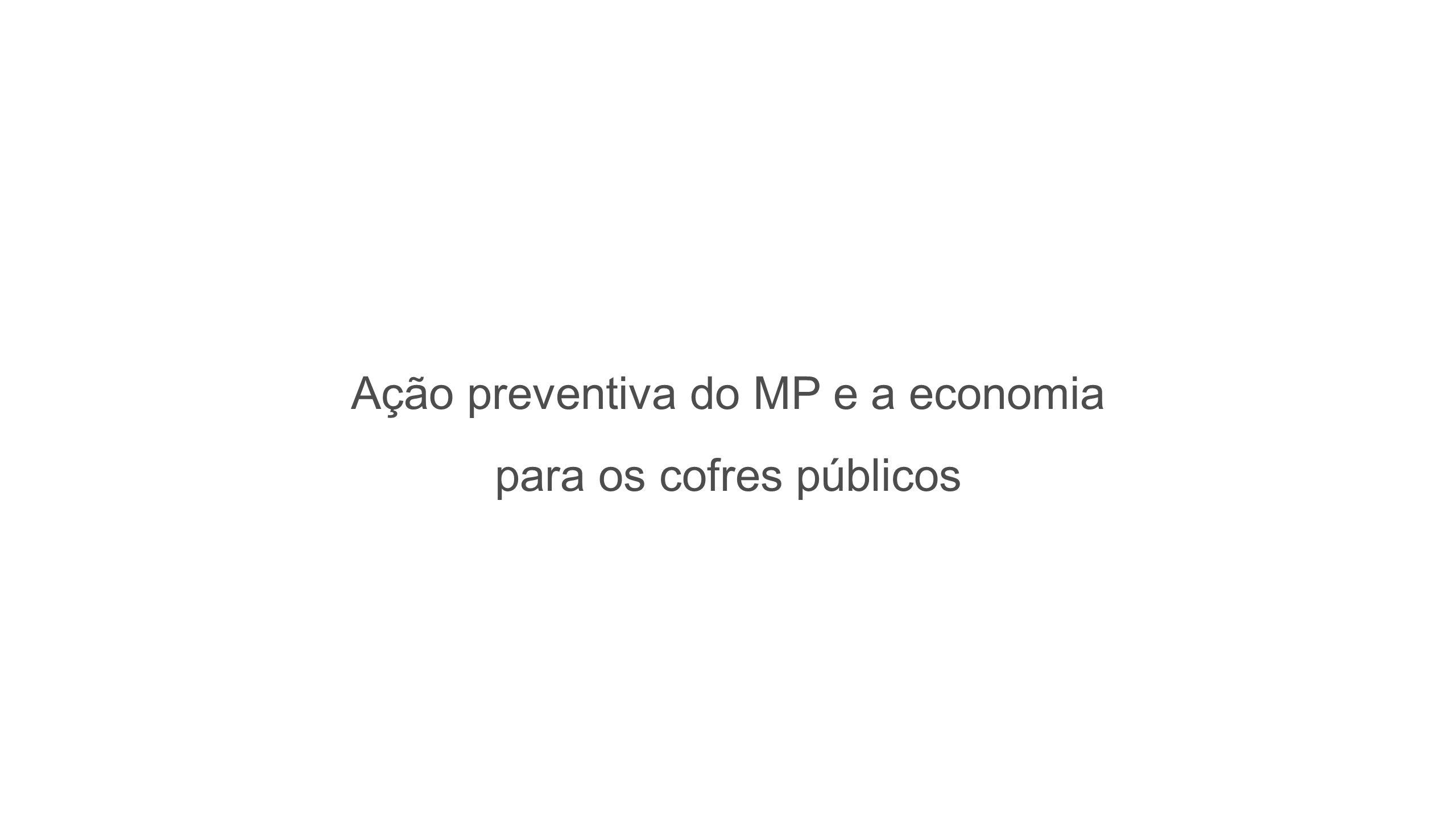 Ação preventiva do MP e a economia para os cofres públicos