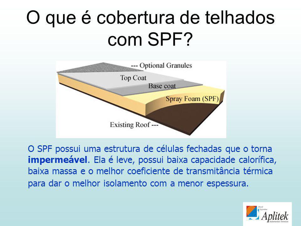 O que é cobertura de telhados com SPF? O SPF possui uma estrutura de células fechadas que o torna impermeável. Ela é leve, possui baixa capacidade cal