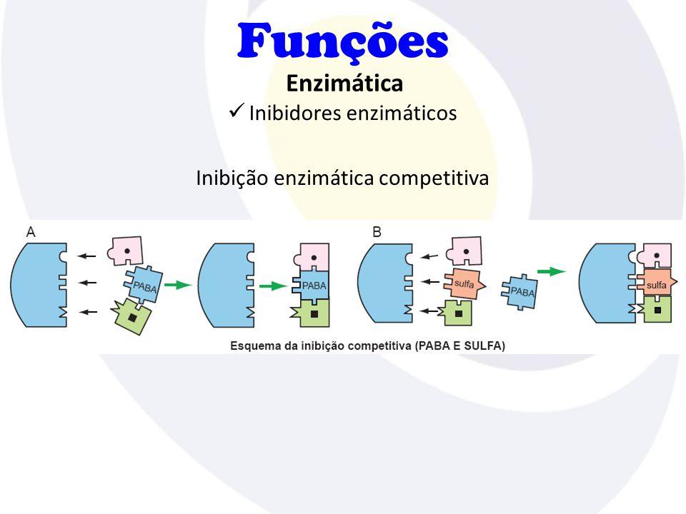 Funções Inibidores enzimáticos Enzimática Inibição enzimática competitiva