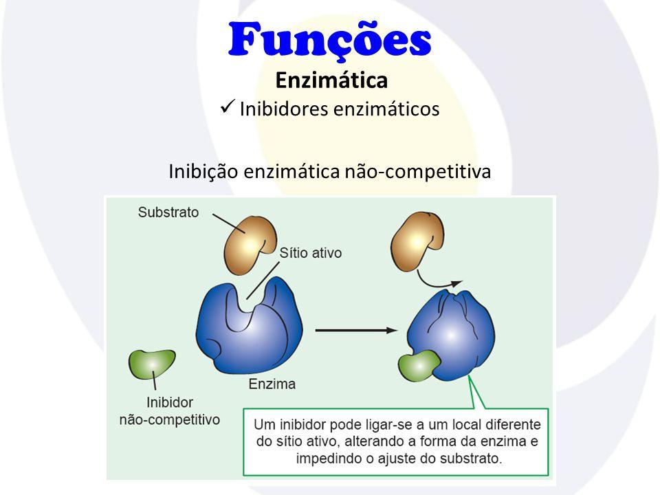 Funções Inibidores enzimáticos Enzimática Inibição enzimática não-competitiva