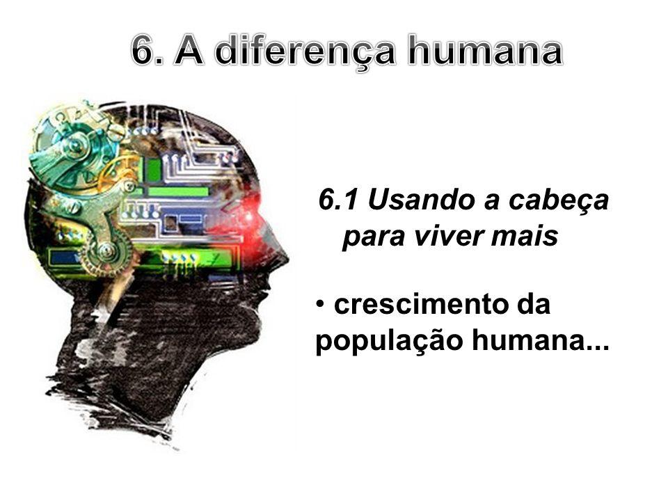 6.1 Usando a cabeça para viver mais crescimento da população humana...