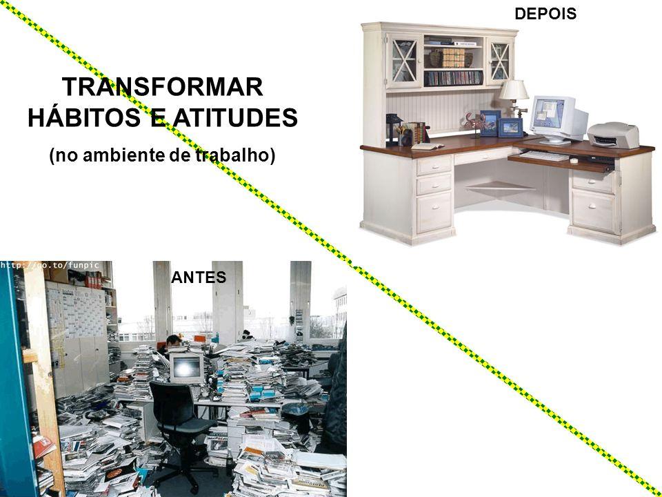 DEPOIS TRANSFORMAR HÁBITOS E ATITUDES (no ambiente de trabalho) ANTES