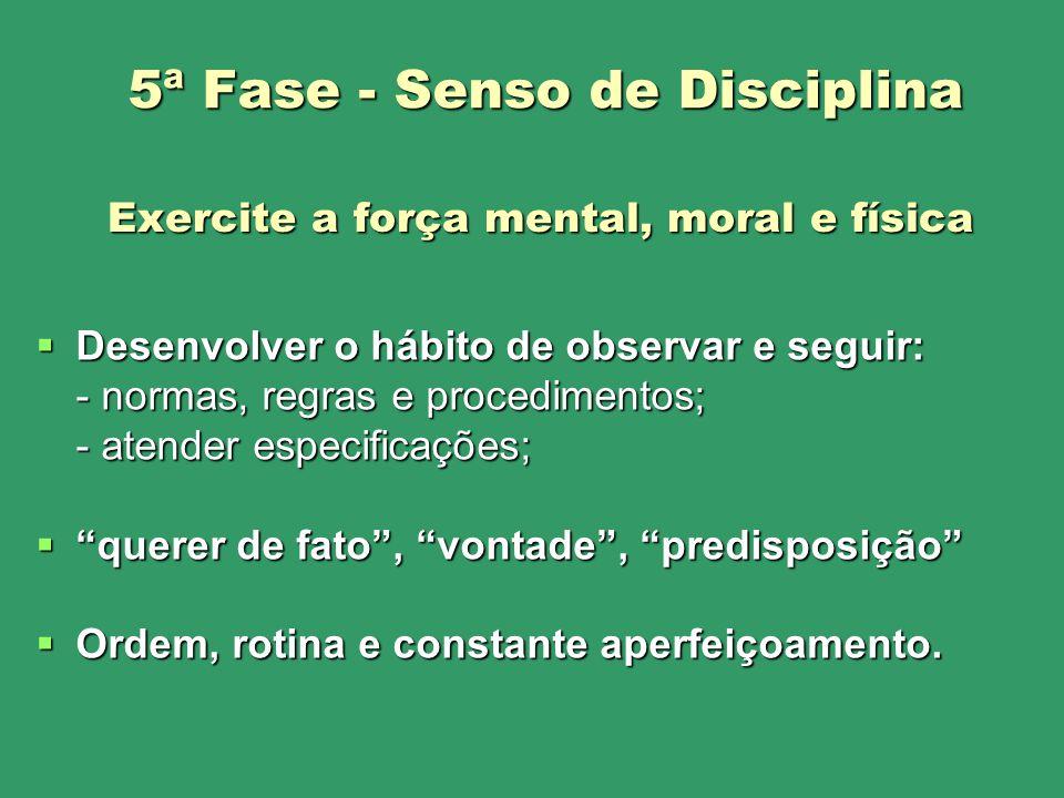 Desenvolver o hábito de observar e seguir: Desenvolver o hábito de observar e seguir: - normas, regras e procedimentos; - atender especificações; quer
