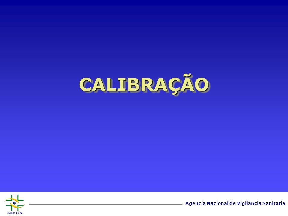 Agência Nacional de Vigilância Sanitária CALIBRAÇÃOCALIBRAÇÃO