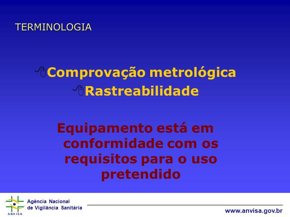 Agência Nacional de Vigilância Sanitária www.anvisa.gov.br Definição: Conjunto de operações que estabelece, sob condições especificadas, a relação ent