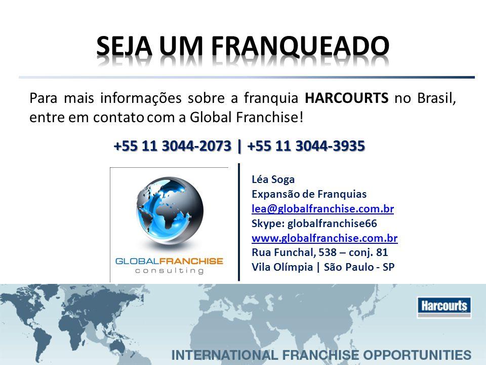 Para mais informações sobre a franquia HARCOURTS no Brasil, entre em contato com a Global Franchise! Léa Soga Expansão de Franquias lea@globalfranchis