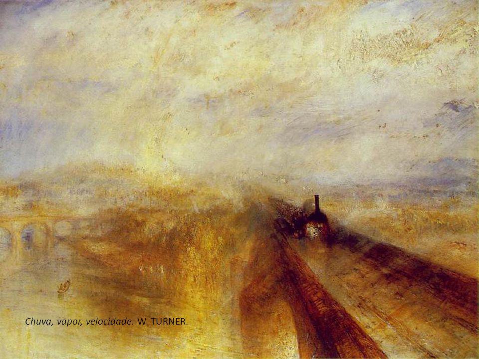 O intrépido Temerário rebocado para seu ancoradouro para ser destruído. William TURNER