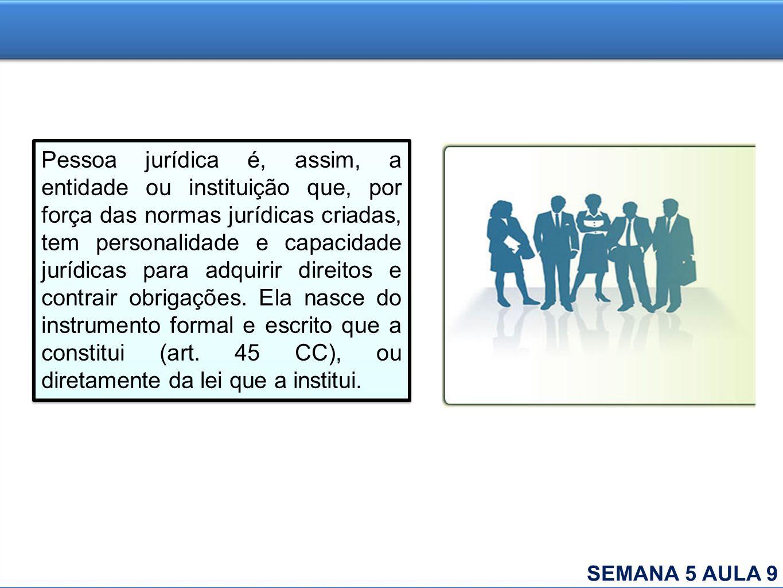Pessoa jurídica é, assim, a entidade ou instituição que, por força das normas jurídicas criadas, tem personalidade e capacidade jurídicas para adquiri