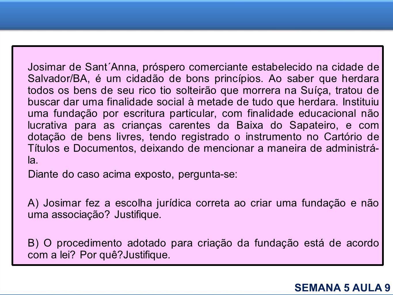 Josimar de Sant´Anna, próspero comerciante estabelecido na cidade de Salvador/BA, é um cidadão de bons princípios. Ao saber que herdara todos os bens