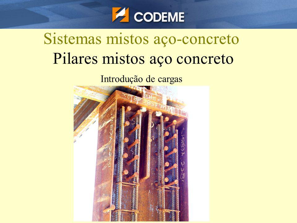Sistemas mistos aço-concreto Pilares mistos aço concreto Introdução de cargas