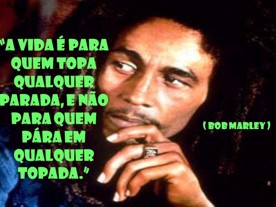 A vida é para quem topa qualquer parada, e não para quem pára em qualquer topada. ( Bob Marley )