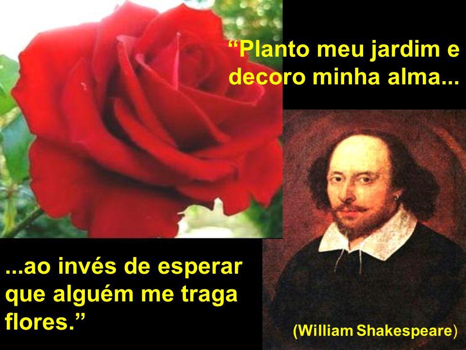 Planto meu jardim e decoro minha alma... (William Shakespeare)...ao invés de esperar que alguém me traga flores.
