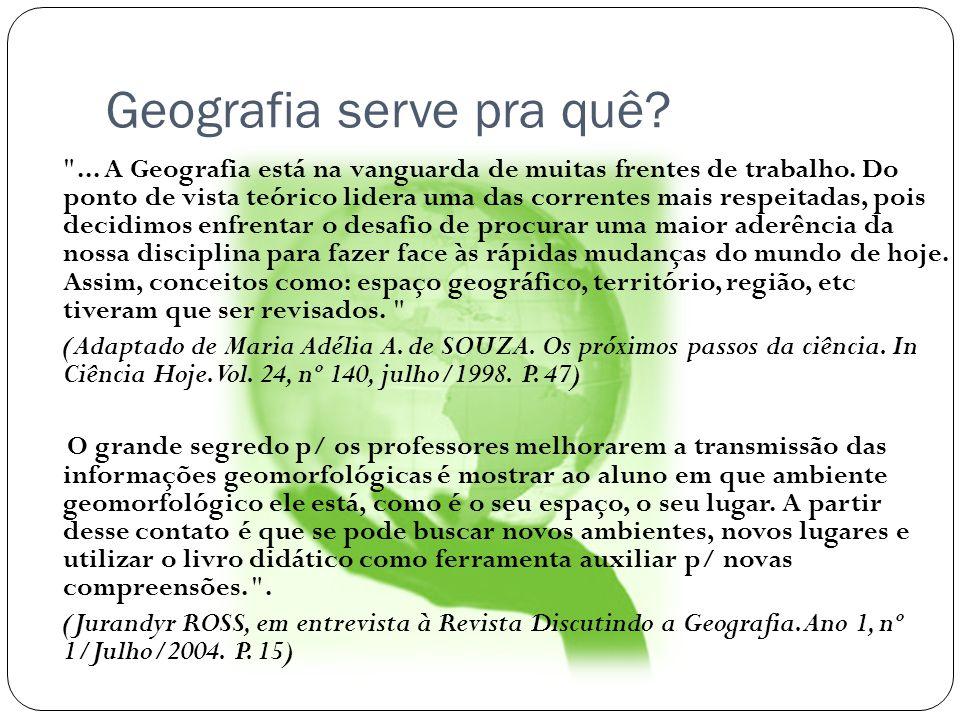 Relevo Brasileiro Classificações de relevo Uma das classificações mais atuais é do ano de 1995, de autoria do geógrafo e pesquisador Jurandyr Ross, do Departamento de Geografia da USP (Universidade de São Paulo).