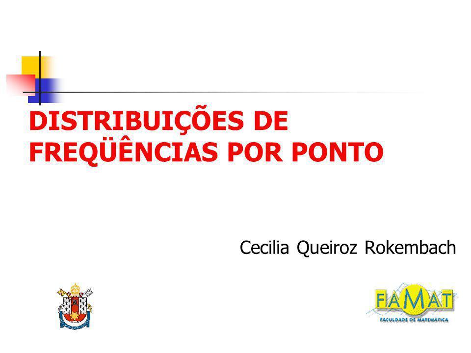 DISTRIBUIÇÕES DE FREQÜÊNCIAS POR PONTO Cecilia Queiroz Rokembach