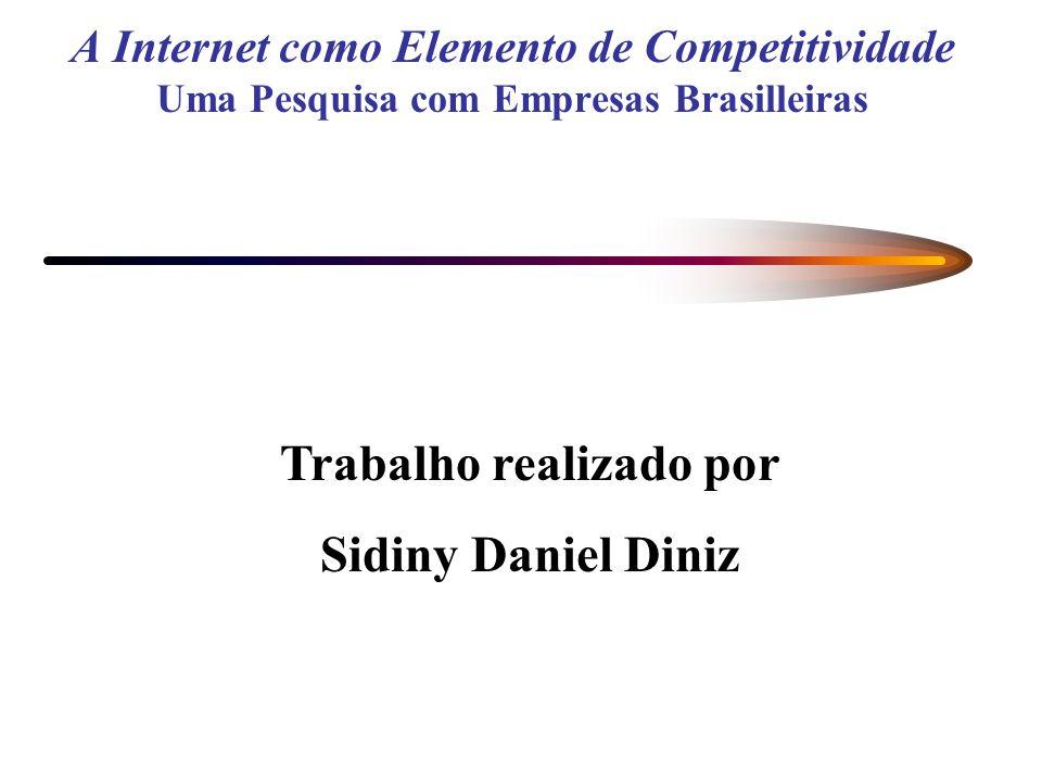 A Internet como Elemento de Competitividade Uma Pesquisa com Empresas Brasilleiras Trabalho realizado por Sidiny Daniel Diniz