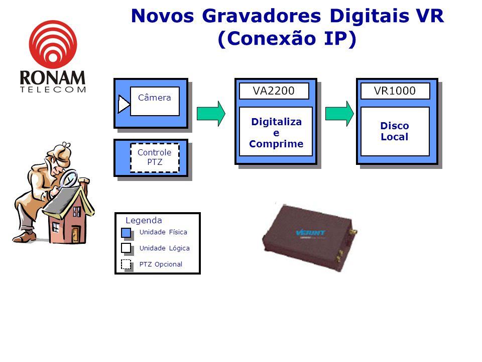 Novos Gravadores Digitais VR Último lançamento em Gravadores Digitais: 8 ou 16 entradas de vídeo Até 30 quadros por segundo em TODOS os canais Definiç