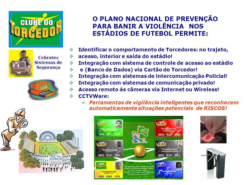 Objetivo: O Plano nacional de Prevenção para banir a violência nos nos estádios de futebol, elaborado pelo Clube do Torcedor e Cebratec – Sistemas de