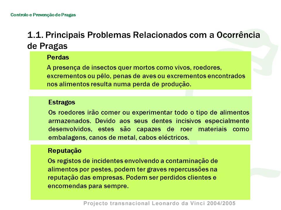 1.4 Estratégias de Controlo de Pragas O termo controlo implica para a maior parte das pessoas matar a população da praga ou pelo menos uma alta proporção desta.