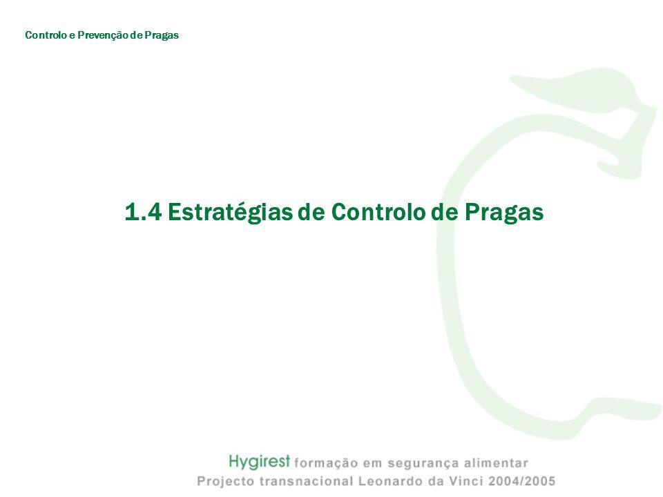 1.4 Estratégias de Controlo de Pragas Controlo e Prevenção de Pragas