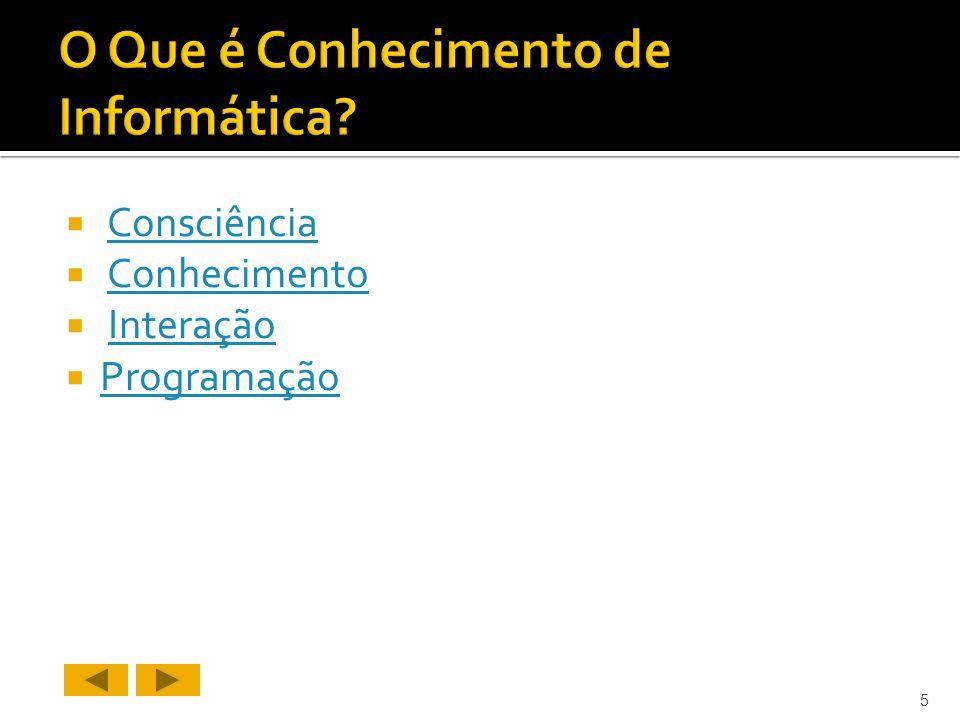 Consciência Conhecimento Interação Programação 5