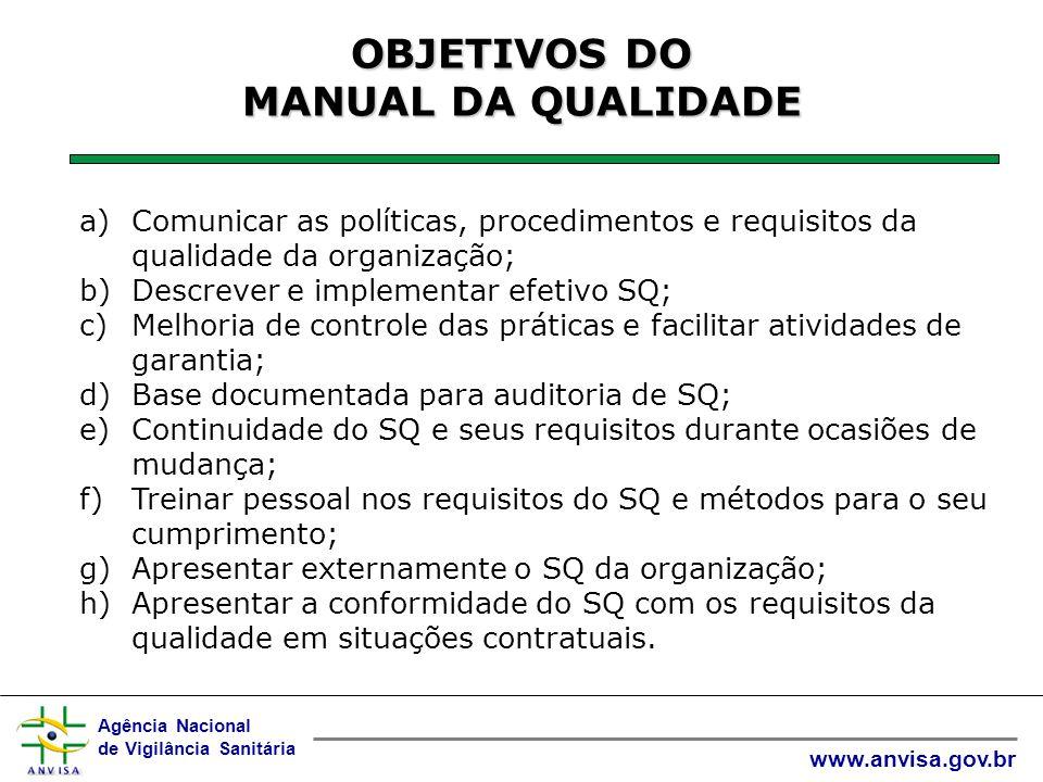 Agência Nacional de Vigilância Sanitária www.anvisa.gov.br VARIAÇÕES DO MQ +