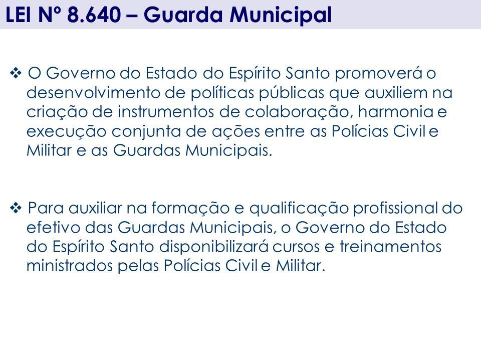 O Governo do Estado do Espírito Santo promoverá o desenvolvimento de políticas públicas que auxiliem na criação de instrumentos de colaboração, harmon